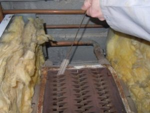 Entretien d'un corps de chauffage de chaudière gaz en fonte